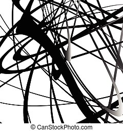 Abstract squiggle, squiggly, curvy lines Monochrome...