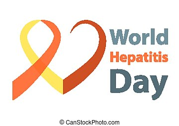 World hepatitis day vector illustration Red and yellow...
