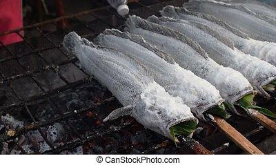 Salt-Crusted Grilled alive Fish - Salt-Crusted Grilled...