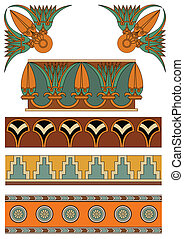 syrian ornaments - old ancient ornaments in vector eps file
