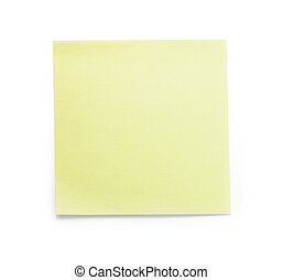 Yellow sticky paper sample