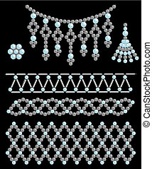 Bead adornments Vector illustration