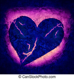 Dying Heart - Dark Illustration of a sad dying heart