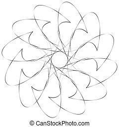 Geometric spiral. Volute, helix elements. Abstract geometric...