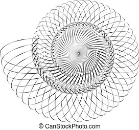 Geometric spiral Volute, helix elements Abstract geometric...