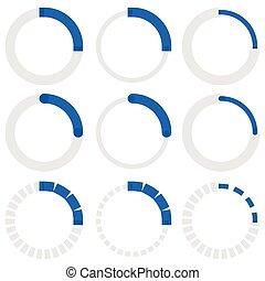 Transparent progress indicators Preloaders, phase, step...