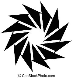 Circular geometric element. Rotating shapes, forms abstract...