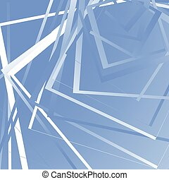 Geometric background w random squares Edgy monochrome...