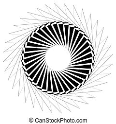 Circular geometric element Rotating shapes, forms abstract...