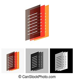 Colorful Office documents or paper files - vector graphic...