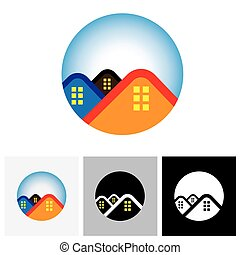 House home and residence symbol for real estate - vector...