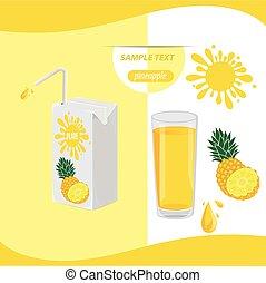 pineapple. Vector illustration.