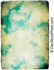 Retro sky image (styled analog photographic image).