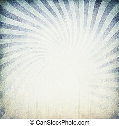 Retro blue sunburst background.