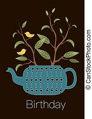 Cute greeting happy birthday card