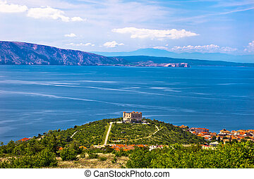 Nehaj fortress above blue sea, Senj, Croatia