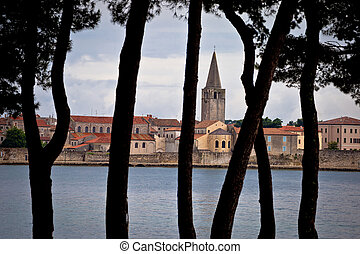 Town of Porec pine trees view, Istria, Croatia