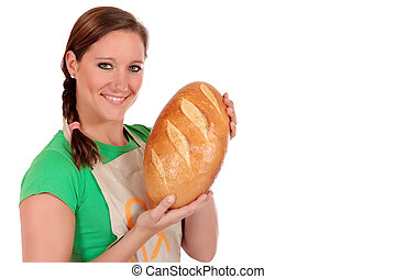 Woman bread