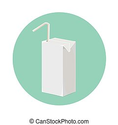 Juice milk blank white carton boxes