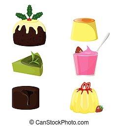 illustration. Pudding