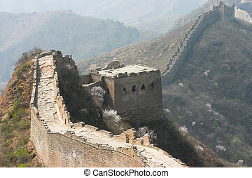 Great Wall China - Great Wall of China near capital Beijing...