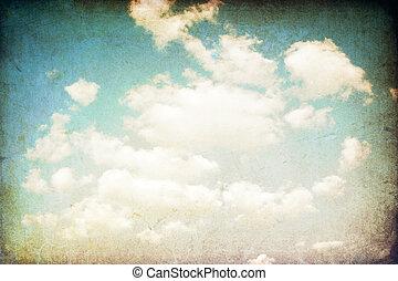 Grunge retro sky image.
