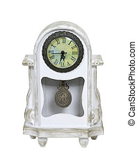 Mantel Whitewashed Clock - Formal whitewashed mantel clock...