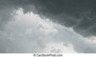 Heavy thunderstorm clouds - Sky with dark heavy clouds...
