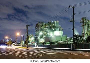 Heavy industry at night