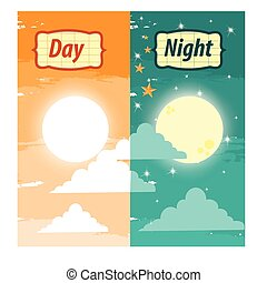 illustration. day and night