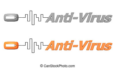 Word Anti-Virus Connected to a Mouse - Orange and Grey -...
