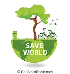 environmentally friendly planet. - Illustration...