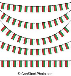 garlands with bulgarian national colors - different garlands...