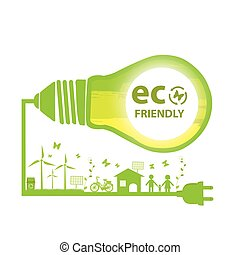 Eco friendly green energy.