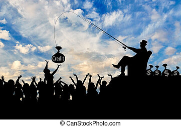 Wealthy businessman catches for credit crowd