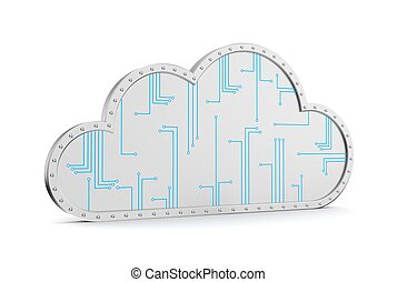Cloud technology computing Your data in safety