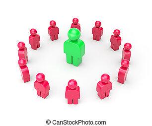 Leader Business metaphor - Leader Business 3d illustration...