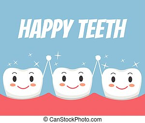 Happy healthy teeth friends