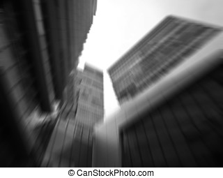 underside view of high rise building skyscrapers,business...