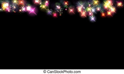 color fireworks curtain