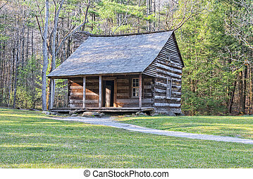 Carter Shields Cabin in Cades Cove, Great Smoky Mountains...