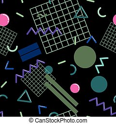 Stylish Memphis seamless pattern - Stylish and fashionable...