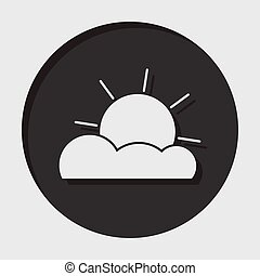 information icon - partly cloudy - information icon - dark...