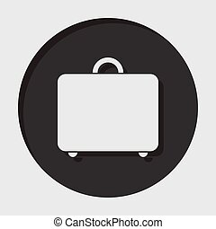 information icon - suitcase - information icon - dark circle...