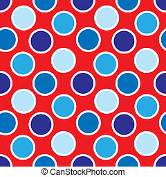Fourth of July Polka Dots