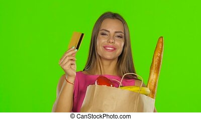Girl in the calculation for the products used the gold card....