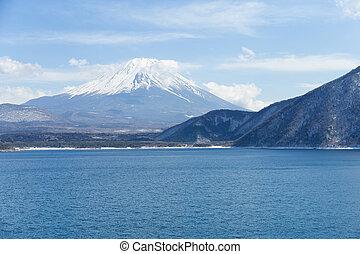 Lake motosu and Mountain fuji