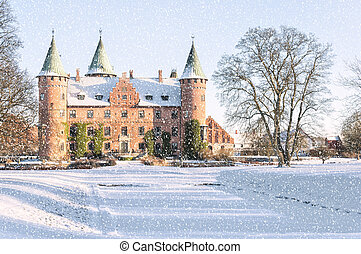 Trolleholm Castle in the Snow - The historic Trolleholm...