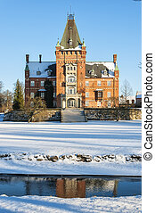 Trollenas in Winter - The historic Trollenas castle situated...