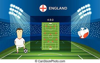 Soccer team arrangement